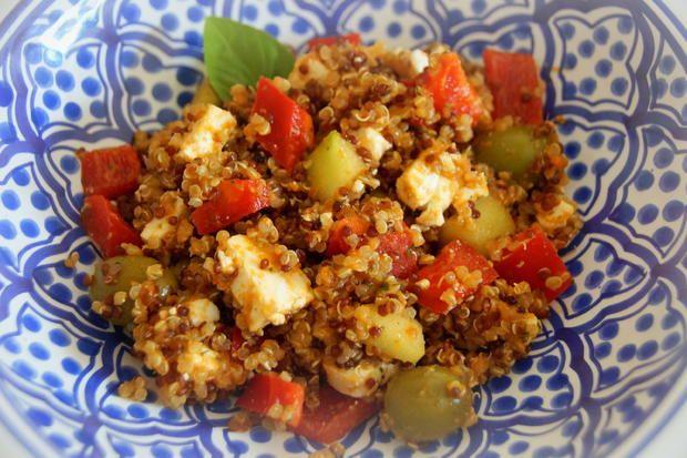 Griechischer Quinoa-Salat - Rezept mit Bild
