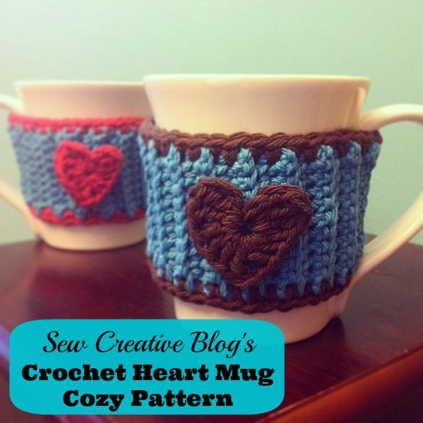 Crochet Heart Mug Cozy Pattern Perfect for Your Favorite Tea or ...
