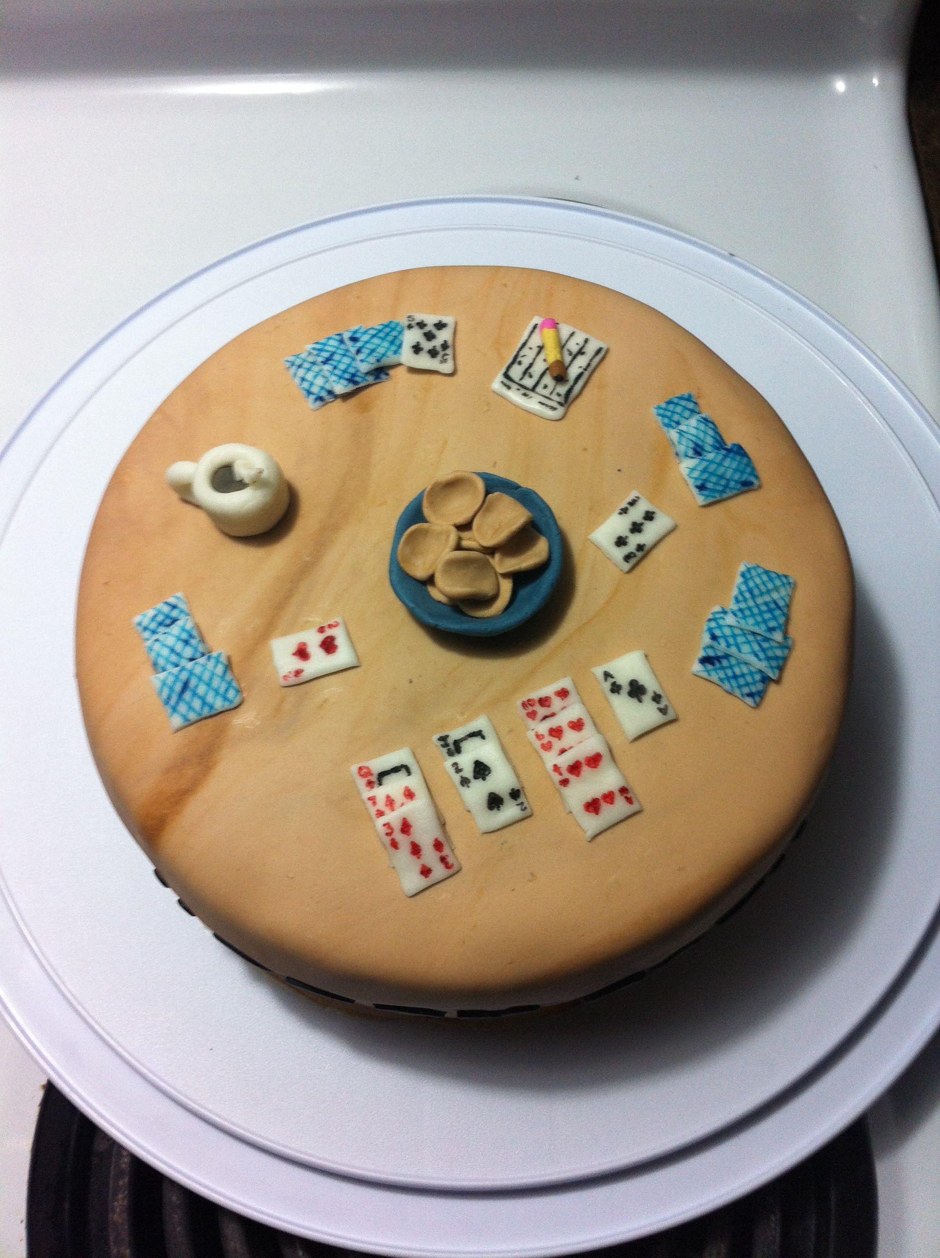 Bridge card game cake | My cakes | Pinterest