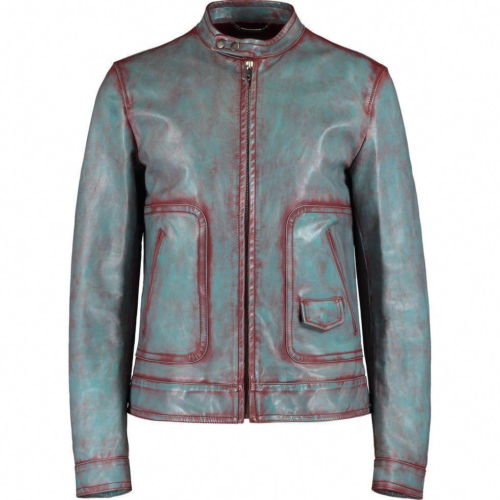 Blue Red Leather Biker Jacket Men S Gold Label Edits Tk Maxx Leatherjacketsformenred Biker Jacket Men Leather Jacket Men Leather Jacket [ 980 x 980 Pixel ]