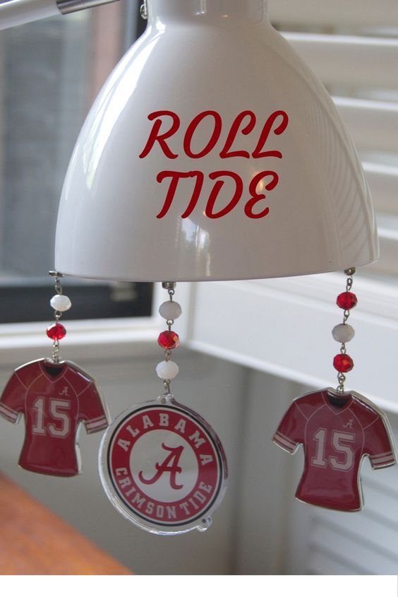 Alabama Crimson Tide Home Decor Ornaments These Magnetic Roll Feature A Tip Dress Up Those Boring Metal Desk Lamps