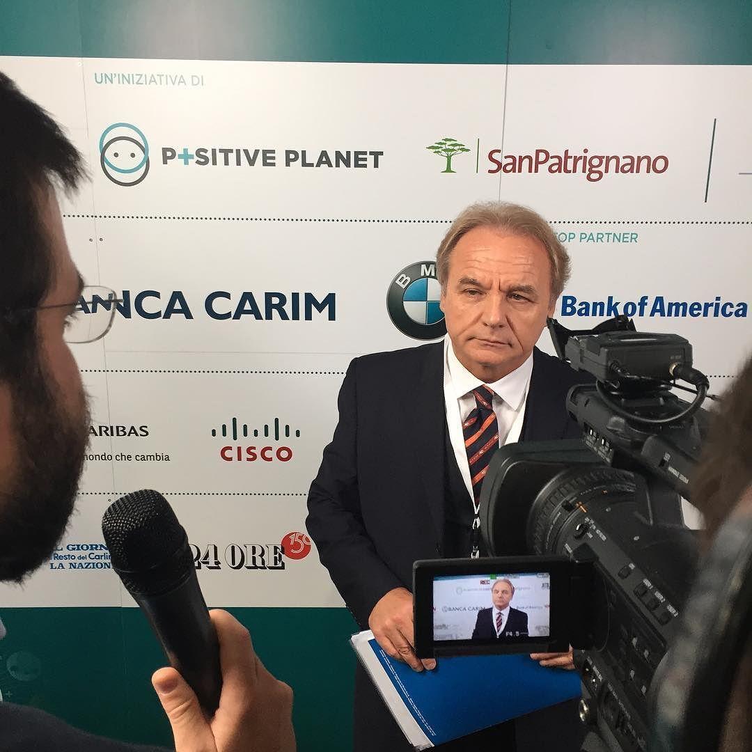 #pef2016 Sido Bonfatti Presidente Banca Carim @sanpatrignano @positiveeconomy #instagram #bancacarim