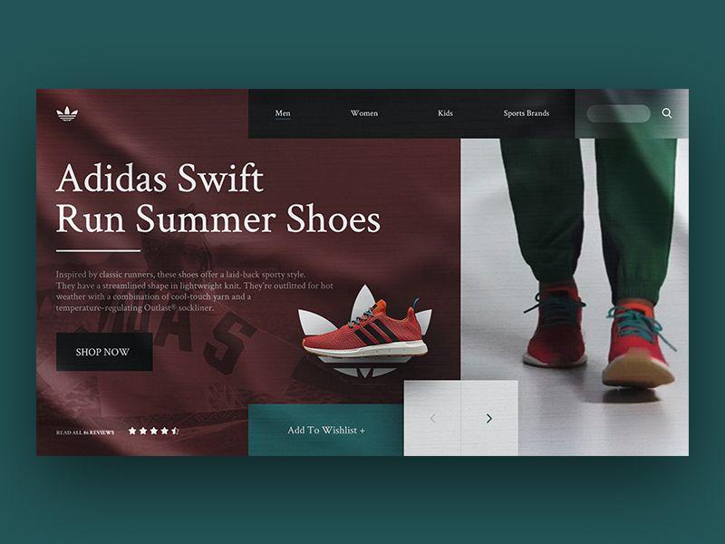 Adidas Landing Page Re Design Concept Landing Page Web Design