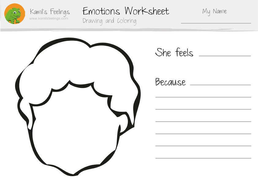 Use our Drawing and Coloring Emotions Worksheets with your – Emotion Worksheets