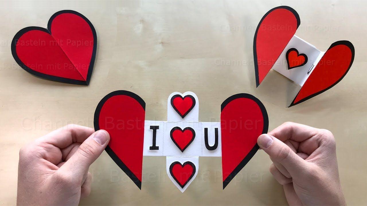 Herz Mit Papier Basteln Mit Botschaft Diy Geschenke