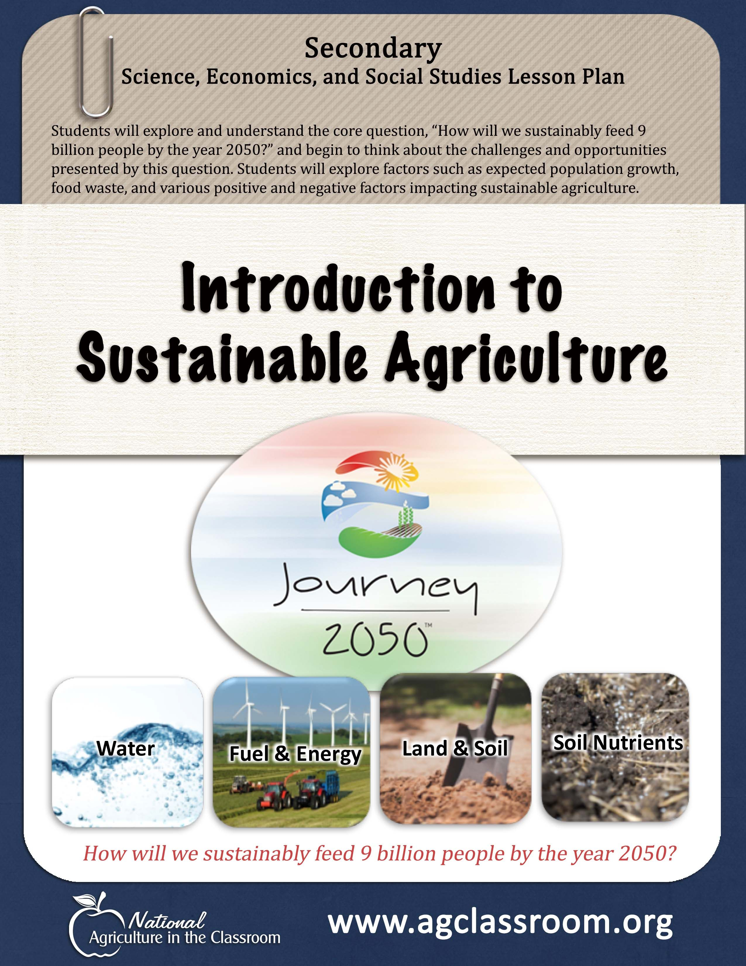Lesson Plan Introducing Secondary Students To Sustainable