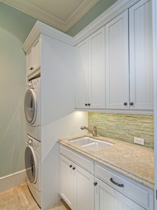 Stacked washer and dryer design for my tiny laundry room - Washer dryers for small spaces ideas ...