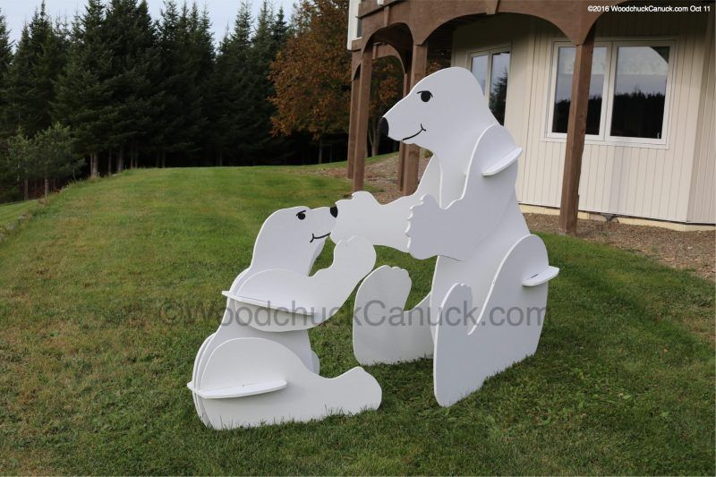 Wooden Thanksgiving Yard Decorations 3d Polar Bears Wood Crafts Stores Flat Pack Animals W Outdoor Christmas Decorations Winter Crafts For Kids Winter Crafts