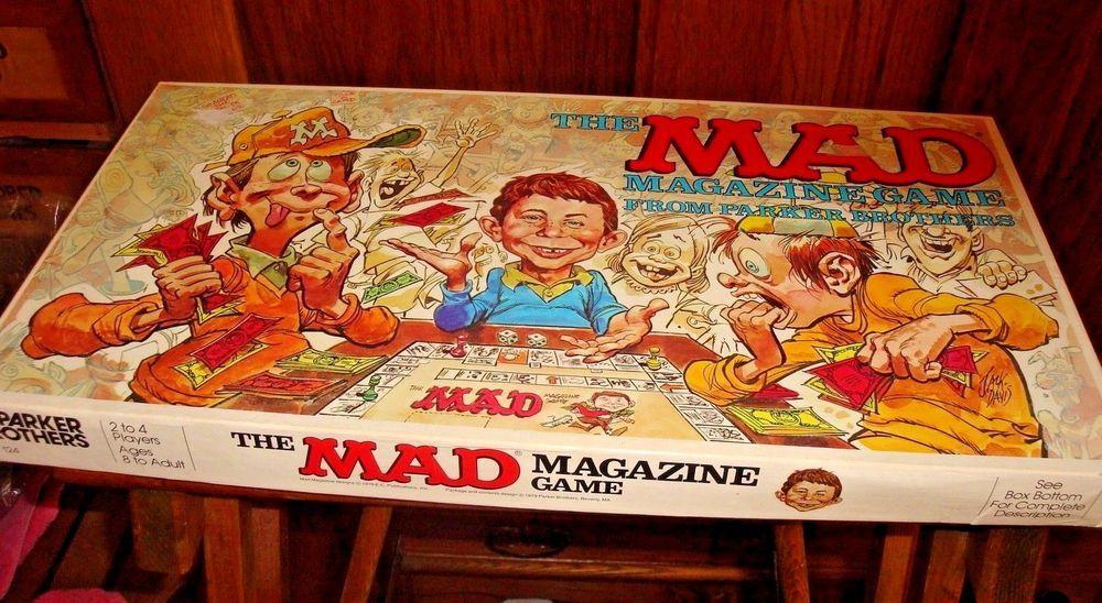 Mad magazine board game parker brothers 1979 vintage