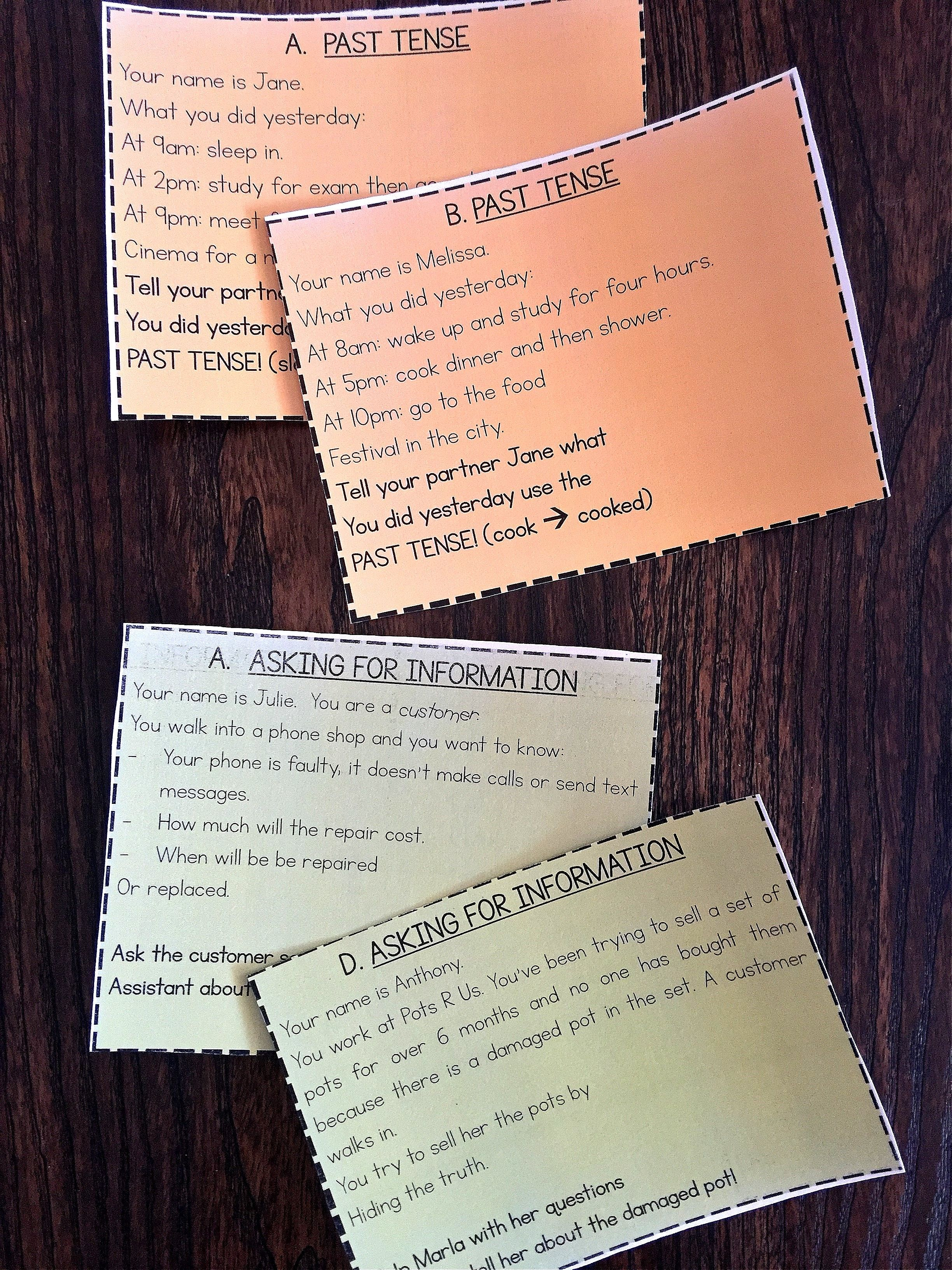 Conversation Starters Role Play Cards Pack 3