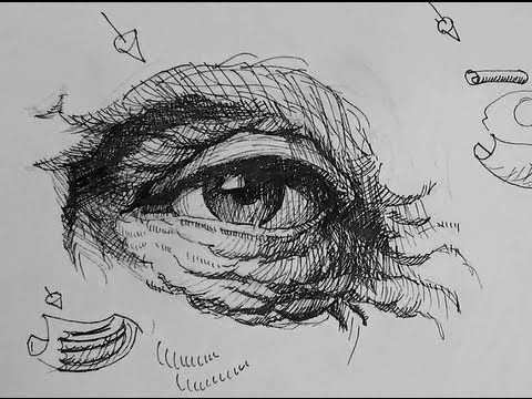 Contour Line Drawing Eye : ▷ pen & ink drawing tutorials how to draw eyes with wrinkles