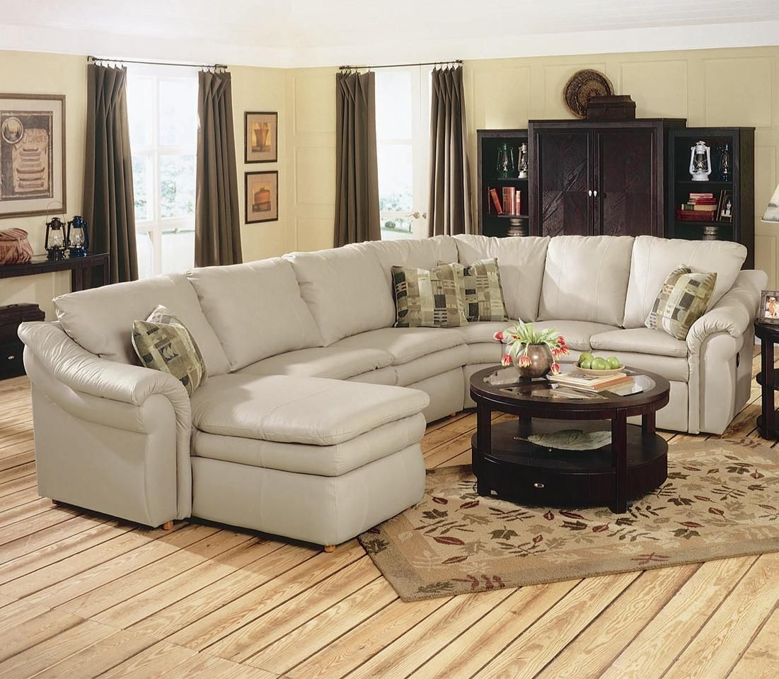 sectional with sleeper sofa and recliner home decorators collection gordon tufted leather devon 420 4 piece
