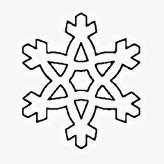 Coloriage Flocon De Neige Dhiver A Imprimer Gratuit Christmas