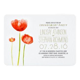 Festa de noivado elegante das flores pintados mão convite 12.7 x 17.78cm