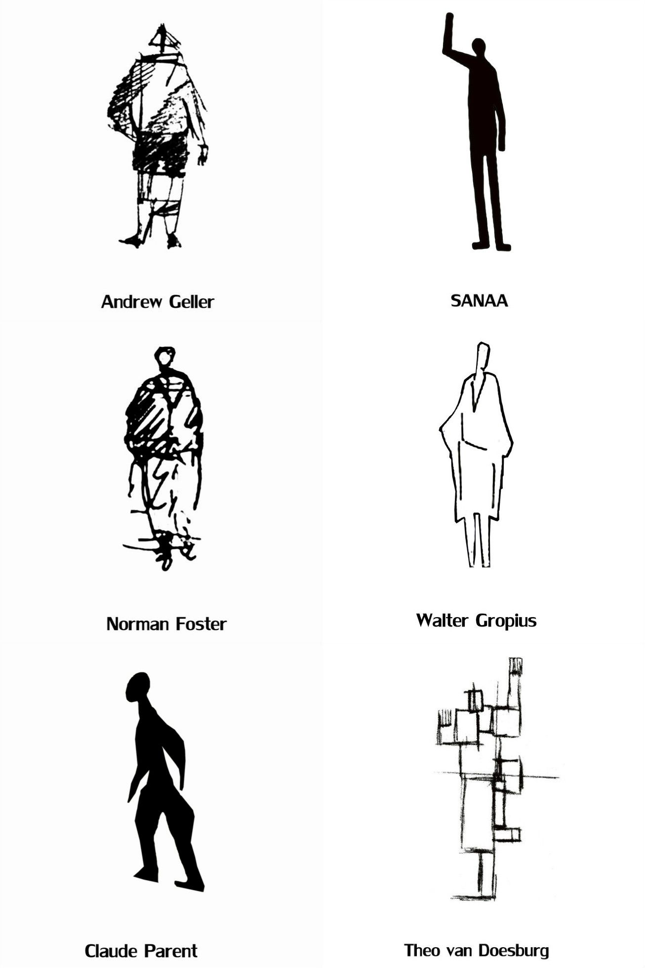 These Architects Drawings Of Human Figures Offer An Insight Into