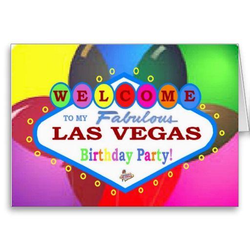 My las vegas birthday party card las vegas birthday cards las cards greeting photo cards m4hsunfo
