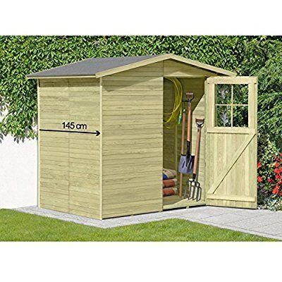 Gerätehaus aus Holz Modell Frankfurt 180 x 145 cm von