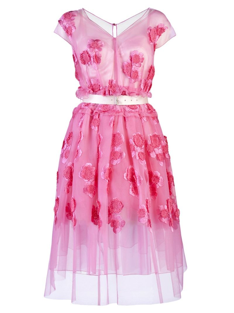 Flower tulle A- line dress by Marc Jacobs