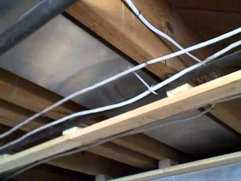 How To Install A Wood Strips Ceiling Youtube Basement