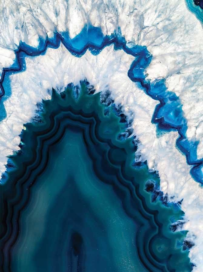 Printed Sea Blue Geode Backdrop 4640 Blue Geode Geode Art Cool Wallpaper