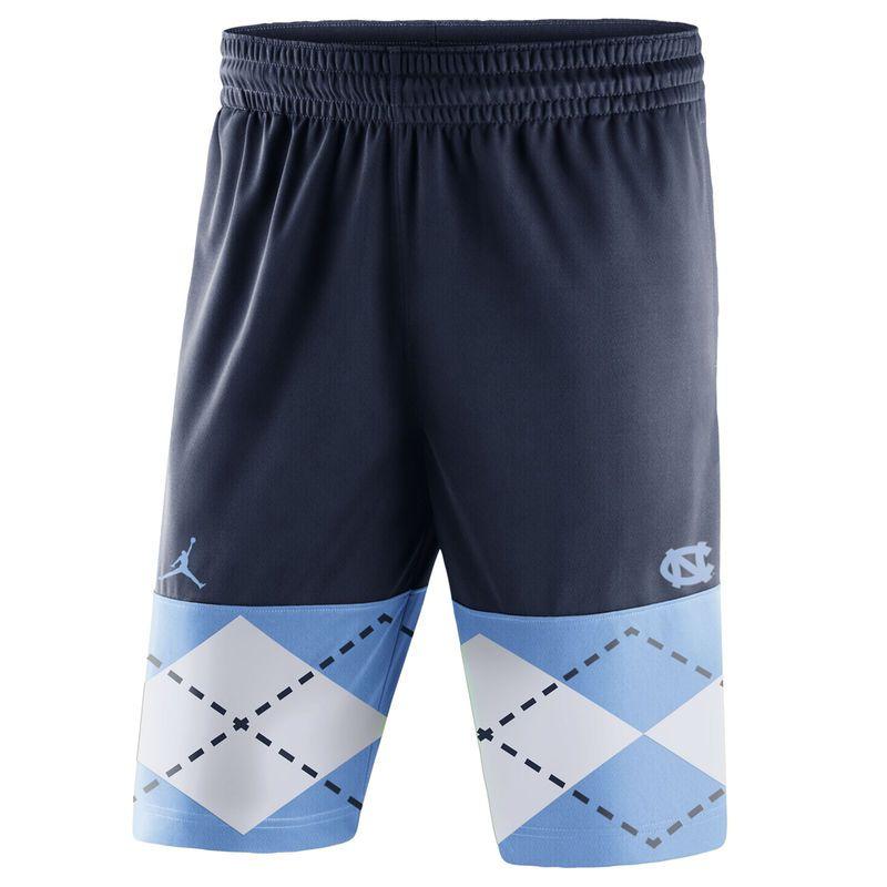 17f48920778 North Carolina Tar Heels Brand Jordan Block Out Performance Shorts - Navy/ Carolina Blue