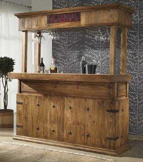 barra de bar rustica  MARKETING  Bar madera Bares rusticos de madera y Mueble bar