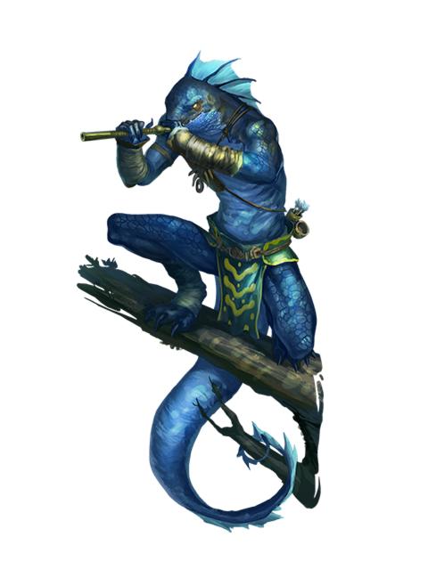 Male Iruxi (Lizardfolk) Scout - Pathfinder 2E PFRPG DND D&D