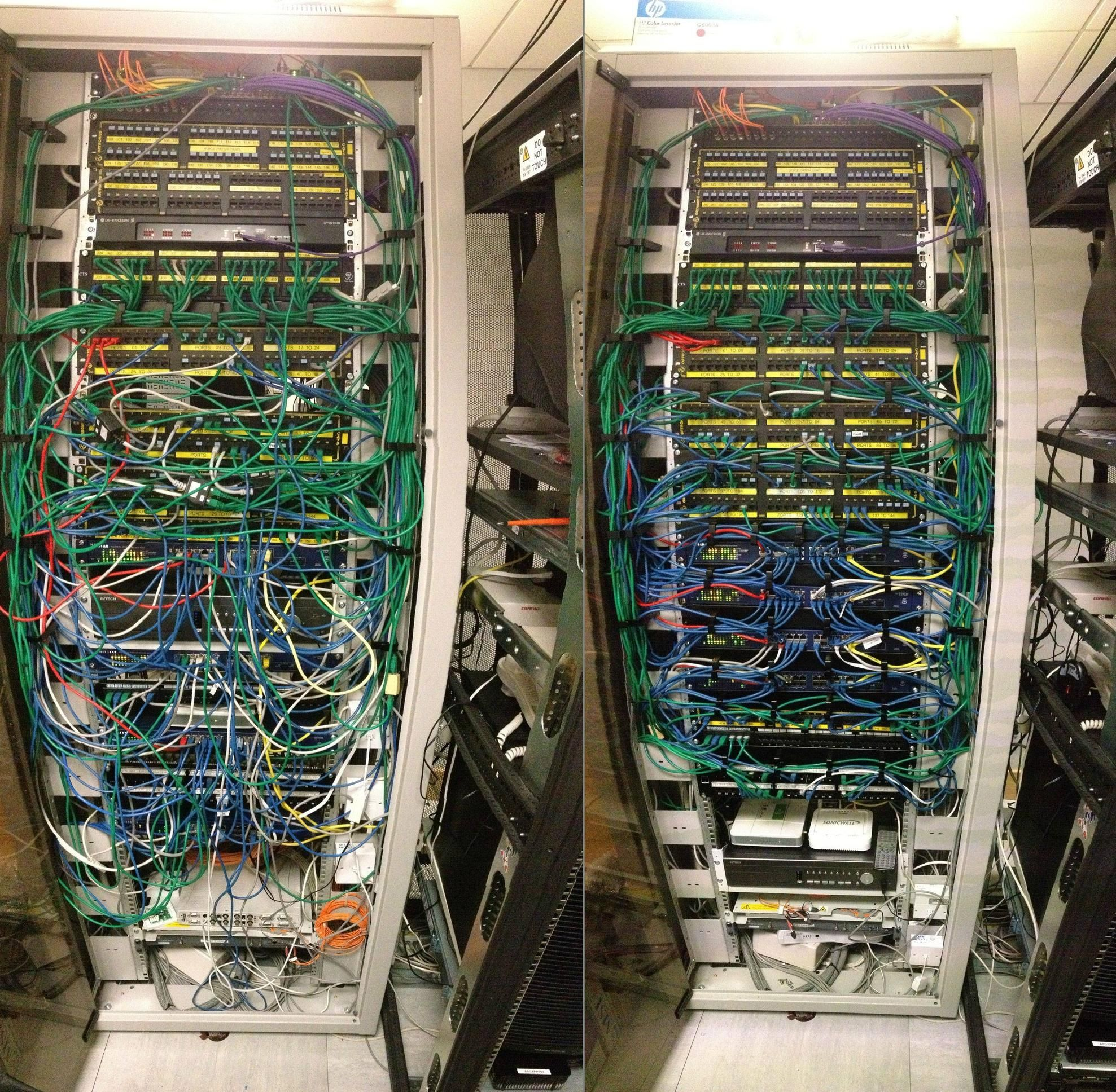 Cable Organization Before And After Do You Need Cable Management