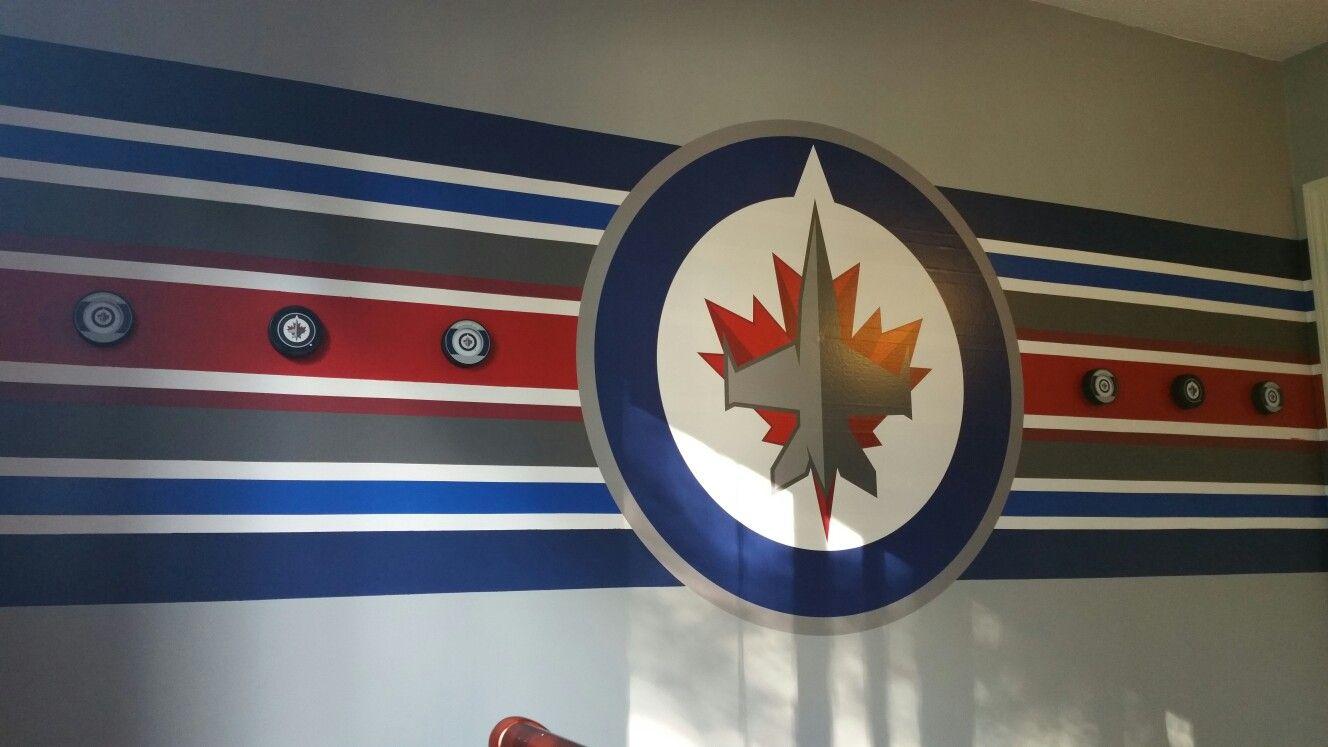 Winnipeg Jets Bedroom Hockey Room Hockey Bedroom Boy Room