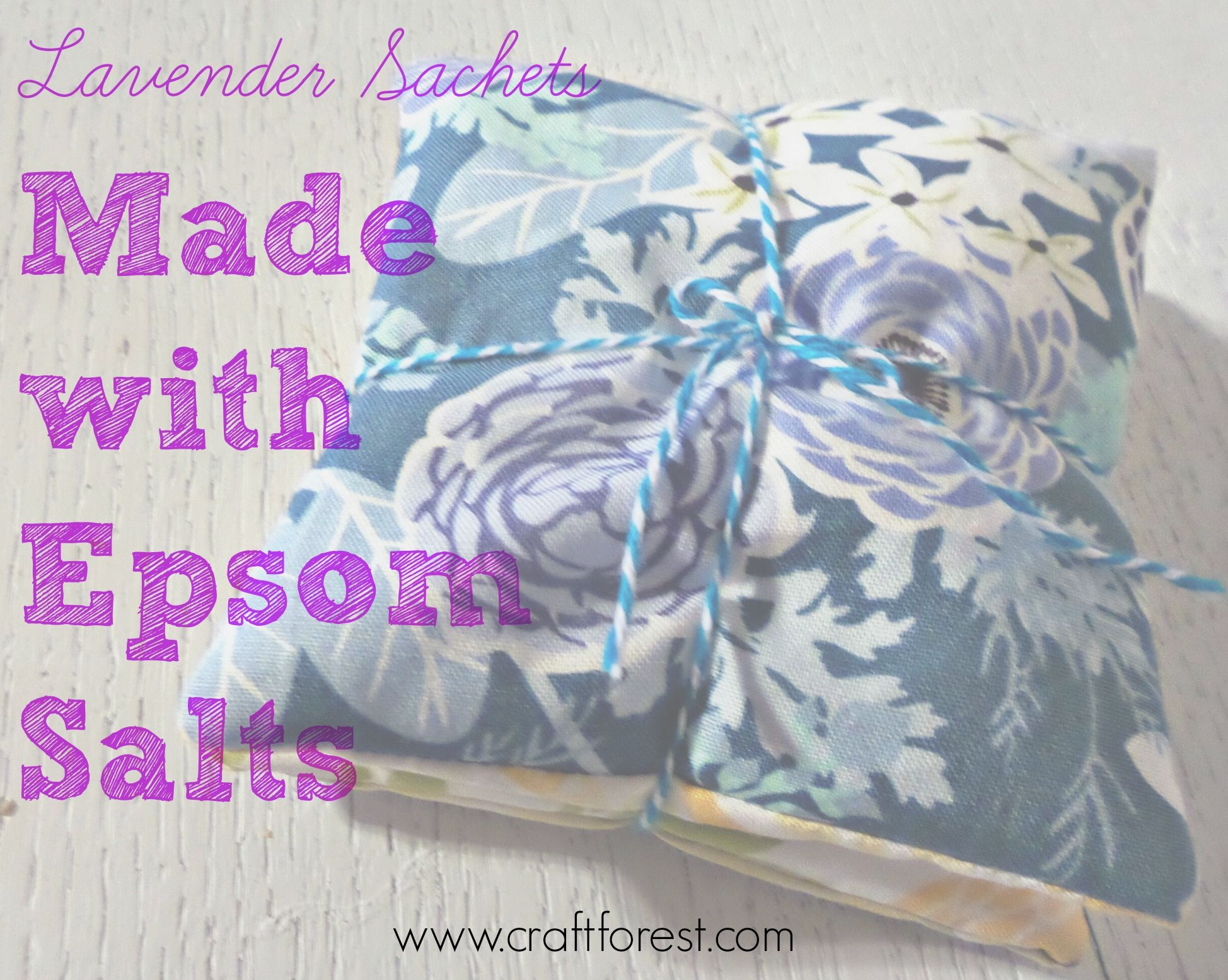 Superior Quick, Easy DIY Sachets For Drawers And Linen Closet Using Epsom Salts.