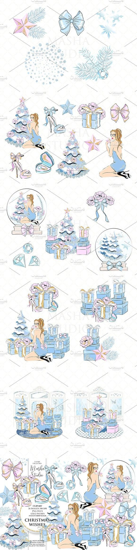 Christmas Wishes Clipart Scrapbooking Pinterest Tree Clipart