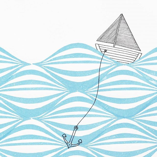 Row Row Row Your Boat... Illustration Made Of A Handmade