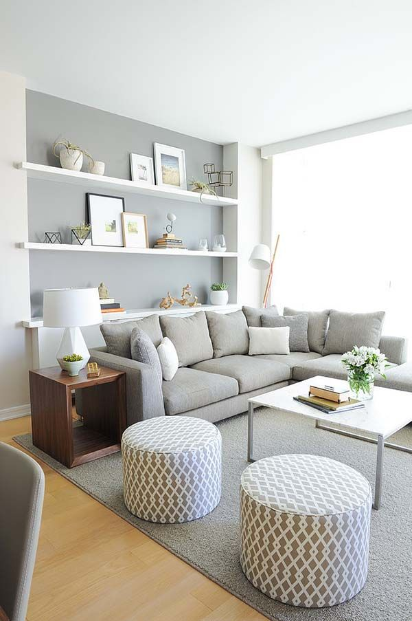 A Monochromatic Color Scheme Shines In Vancouver Condo Small Living Rooms Modern Room