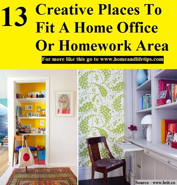 13 Creative Places To Fit A Home Office Or Homework Area
