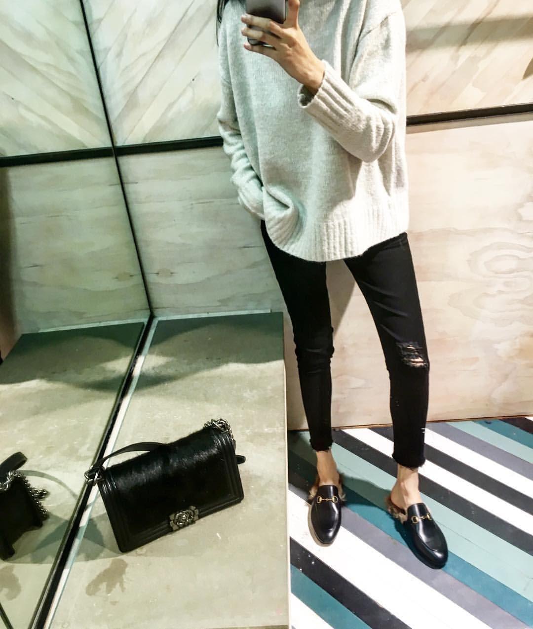 f998f593ff8d Gucci mule shoes | W E △ R | Fashion, Autumn fashion, Outfits