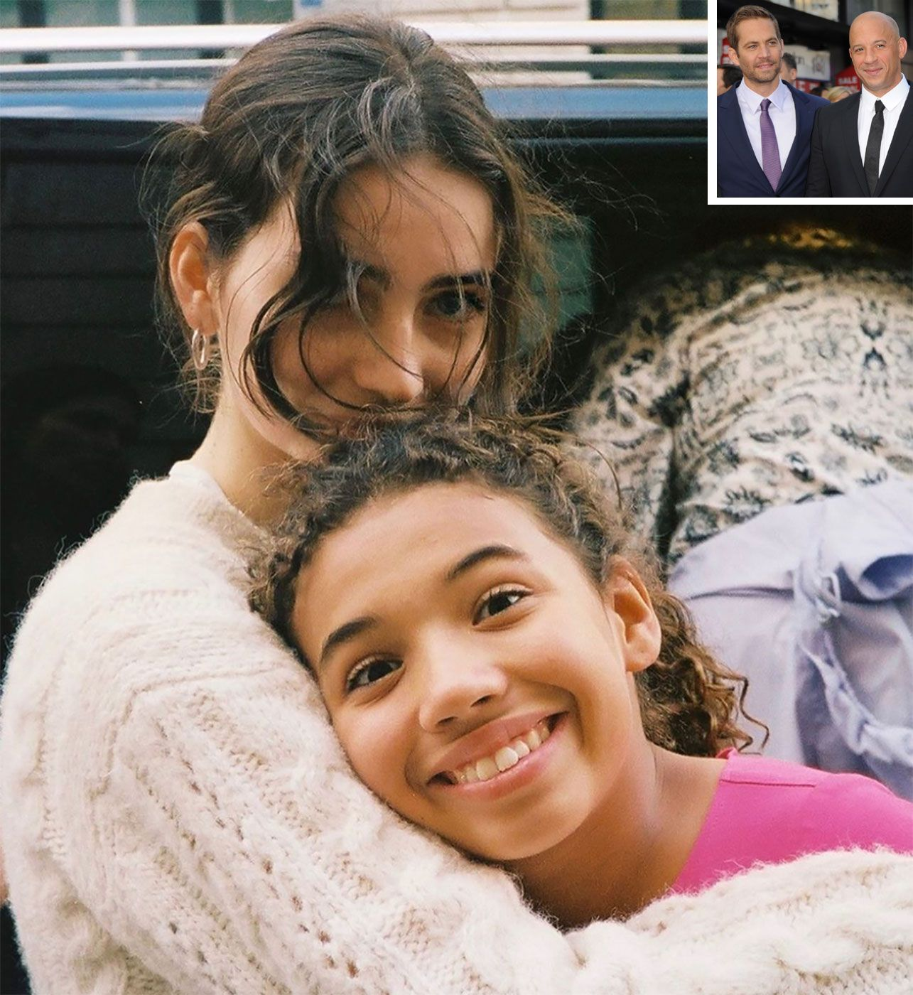Paul Walker And Vin Diesel S Daughters Pose Together In Heartwarming Photo With My Angel Paul Walker Daughter Meadow Walker Paul Walker