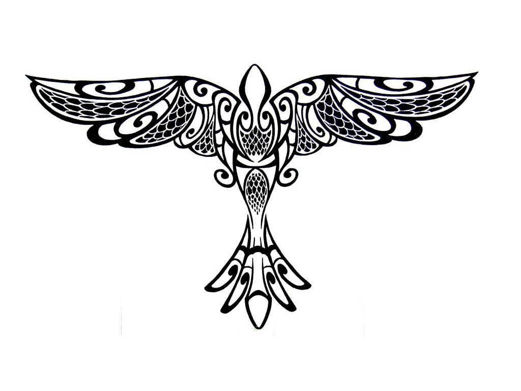 Wings designs tribal tattoo