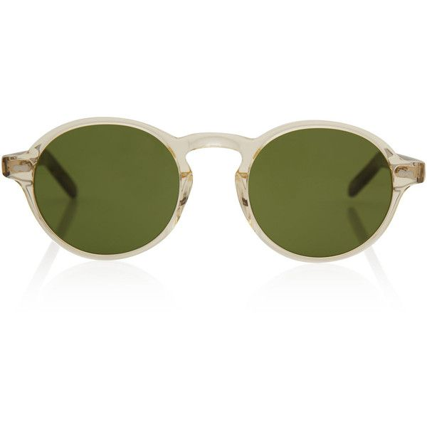 34696d7dfd Moscot Clear Glick Acetate Sunglasses ( 250) ❤ liked on Polyvore featuring  accessories