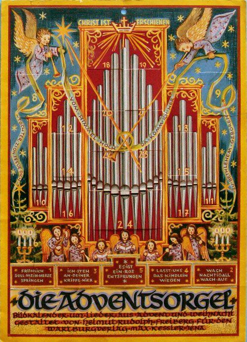 Card Verlag Weihnachtskarten.Antique Christmas Ornaments Paper And Spun Glass Advent Cards