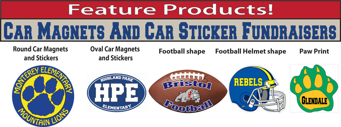 Fundraising Products And Ideas Fundraising Products For School - Car magnets for sport fundraiser