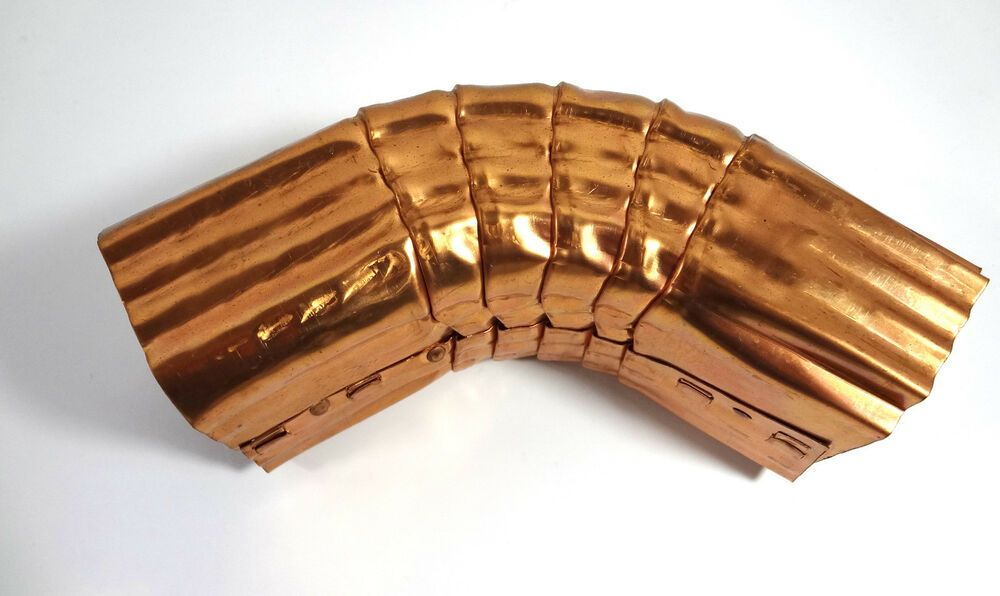Roof Gutter Elbow Downspout Custom Copper Elbow Style A 75 Degree Short Style Downspout Gutters Copper Gutters