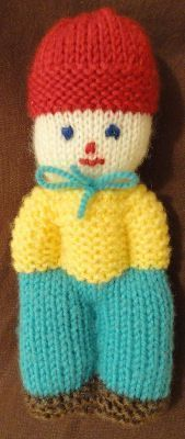 Photo of Knitted doll ~ Teacher Hubsi Instructions: Begin with the feet with 41 stitches …