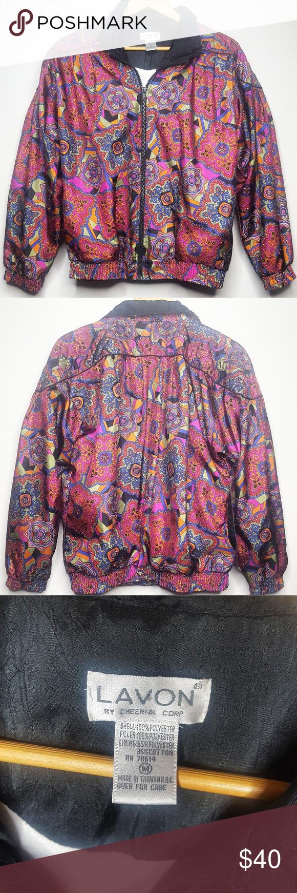 Vintage 80s 90s Lavon Paisley Bomber Jacket Paisley Jacket Bomber Jacket Vintage Vintage Jacket [ 1740 x 580 Pixel ]