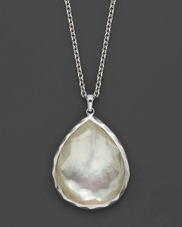Large mother of pearl pendant wonderland large teardrop ippolita sterling silver wonderland large teardrop pendant necklace in mother of pearl 16 bloomingdales mozeypictures Images