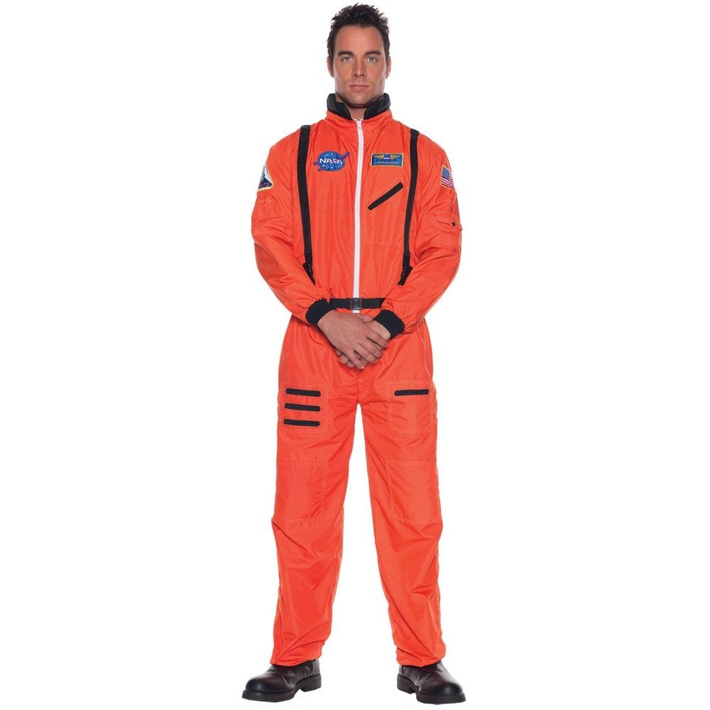 Astronaut Costume Deluxe White NASA Jumpsuit Space Suit Adult Teen Plus Size 2XL