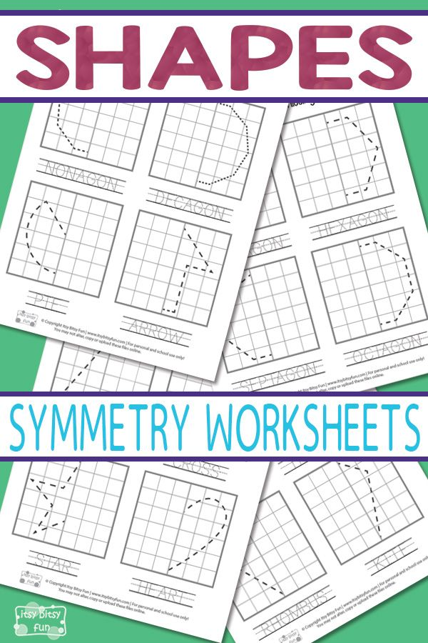 2nd Grade symmetry worksheets for 2nd grade : Shapes Symmetry Worksheets | Symmetry worksheets, Printable shapes ...