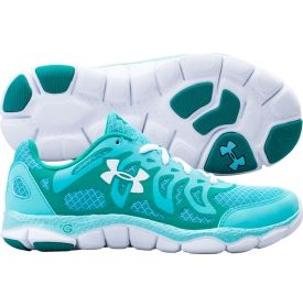 2d7b93987 Under Armour Women s Micro G Engage Running Shoe - Teal White ...