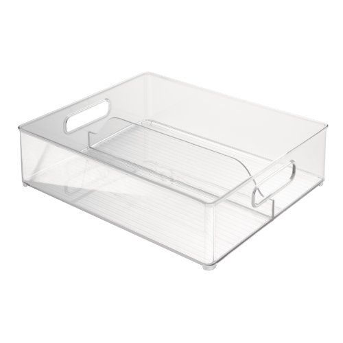 Interdesign Fridge Binz Deep Split Bin Clear 12 Inch By 4 Inch Interdesign Http Www Amazon Com Dp B004zl9q Freezer Storage Bins Organizing Bins Storage Bin