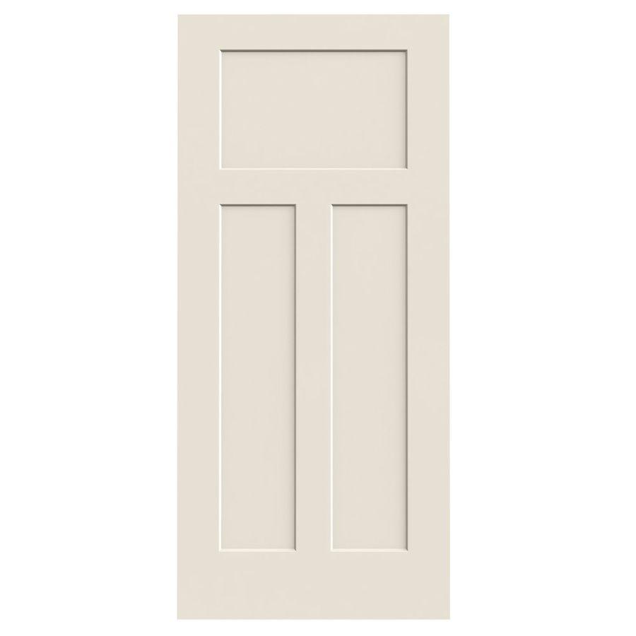 Jeld Wen Craftsman 3 Panel Craftsman Slab Interior Door Common 36