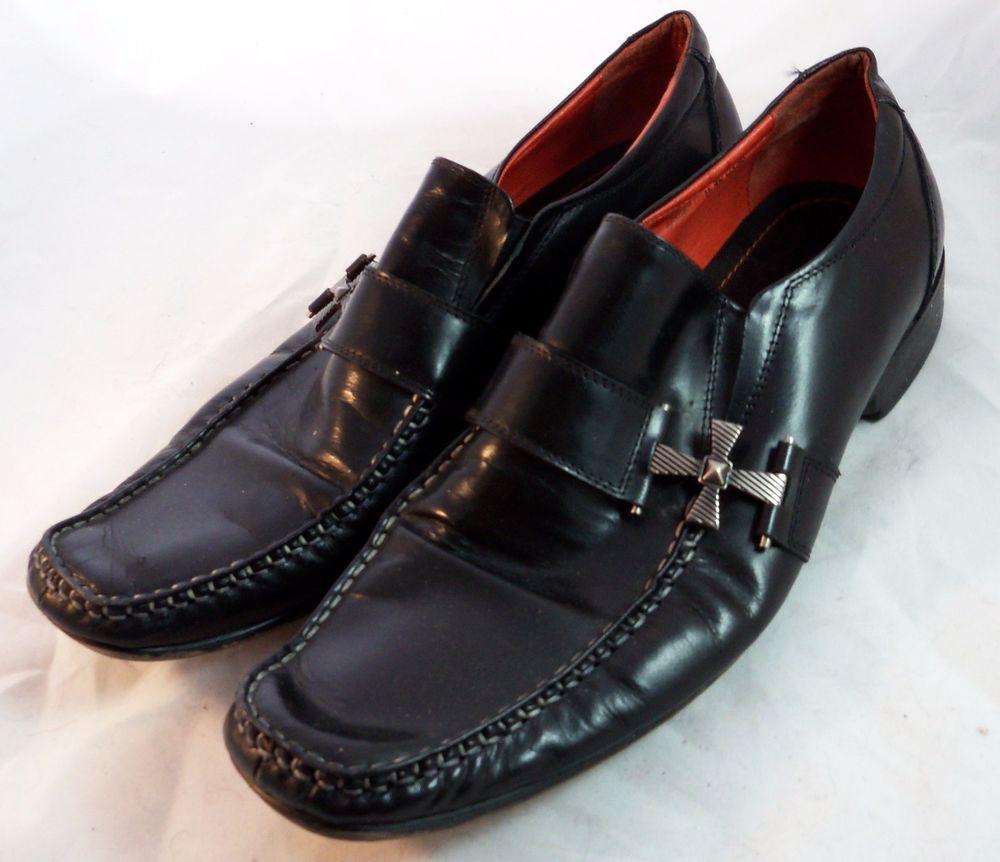 ROBERT WAYNE Men's Shoes ~ Black Cross